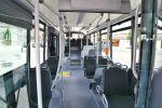 Pohled do interiéru předváděcího autobusu Crossway LE CITY 12M NP
