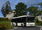 Bílý Crossway LE CITY 12M NP byl v rámci předváděcího provozu zapůjčen i do Jeseníku, kde pod hlavičkou společnosti Arriva Morava zajišťoval dopravu do areálu Priessnitzových lázní